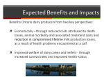 expected benefits and impacts