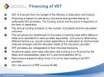 financing of vet