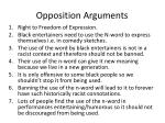 opposition arguments