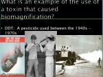 what is an example of the use of a toxin that caused biomagnification