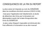 consequences de la fin du report