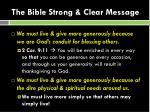 the bible strong clear message1
