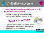 l initiative citoyenne