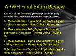 apwh final exam review