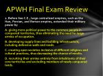 apwh final exam review1