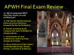 apwh final exam review10
