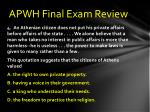 apwh final exam review3