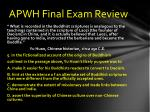 apwh final exam review4