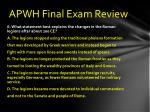 apwh final exam review5
