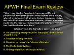 apwh final exam review7