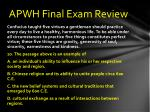 apwh final exam review9