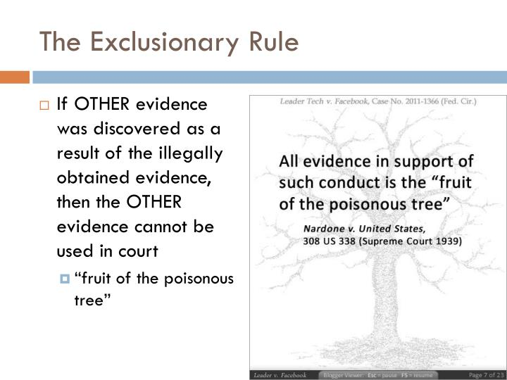 exclusionary rule individual case analysis and explanation essay Lee a weiss, fifth amendment--fifth amendment exclusionary rule: the assertion and subsequent waiver of the right to counsel,  case-by-case analysis of the voluntariness standard 13 this note will examine the court's interpretation of precedent and  fifth amendment--fifth amendment exclusionary rule: the assertion and subsequent waiver.
