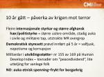 10 r g tt p verka av krigen mot terror