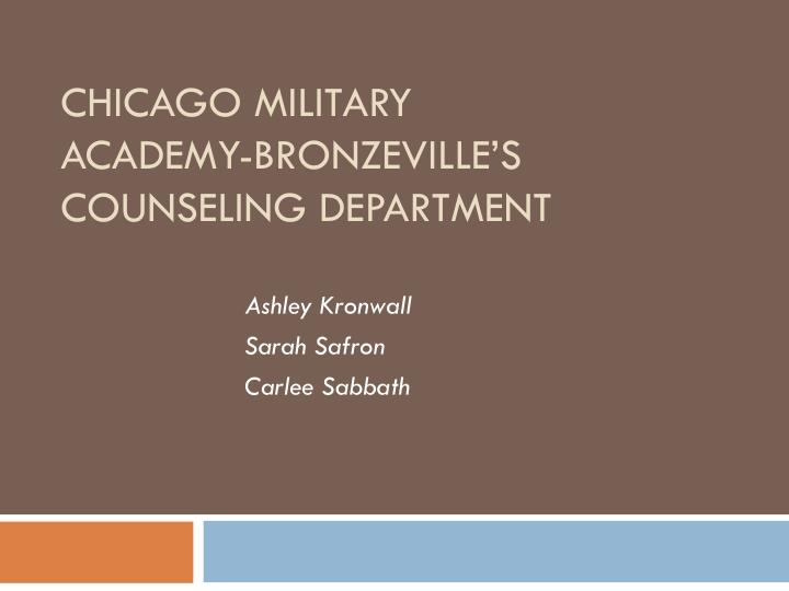 chicago military academy bronzeville s counseling department n.