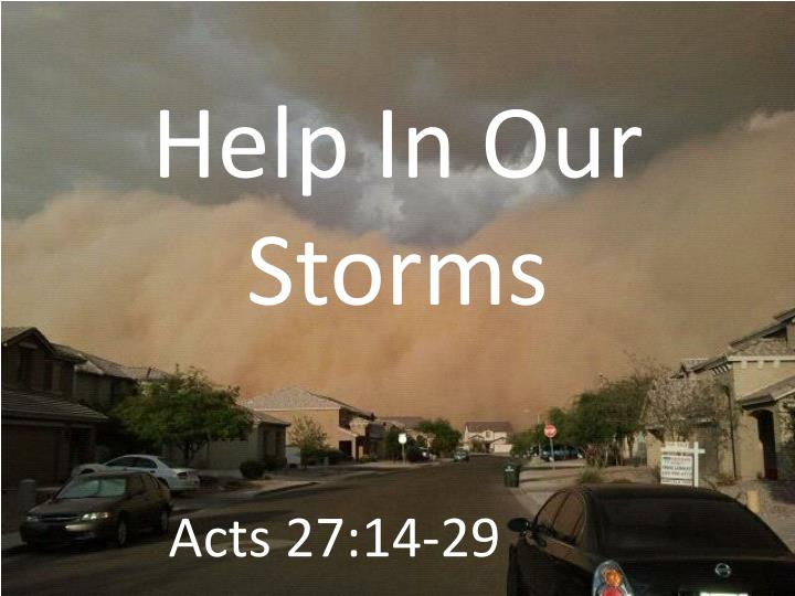 help in our storms n.