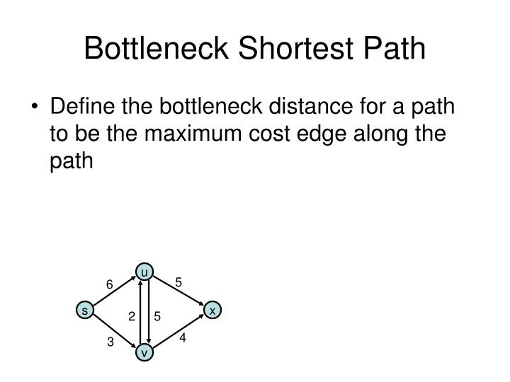 Bottleneck Shortest Path