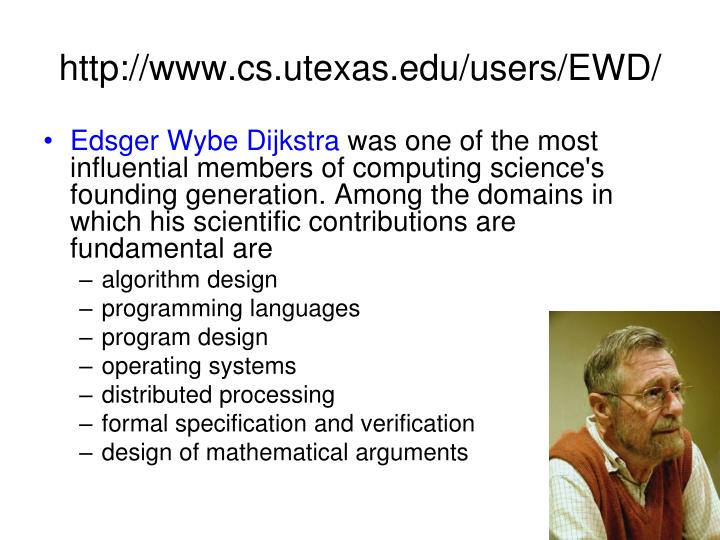 http://www.cs.utexas.edu/users/EWD/