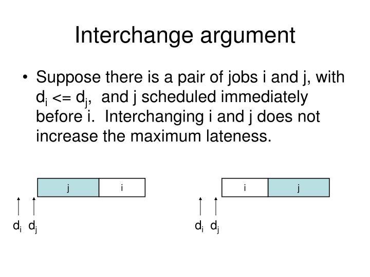 Interchange argument
