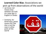 learned color bias associations we pick up from observations of the world