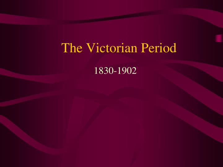 the victorian period n.