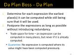 da plan boss da plan