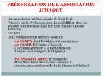 pr sentation de l association ithaque