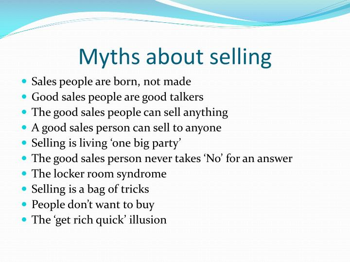 Myths about selling