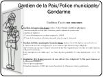 gardien de la paix police municipale gendarme