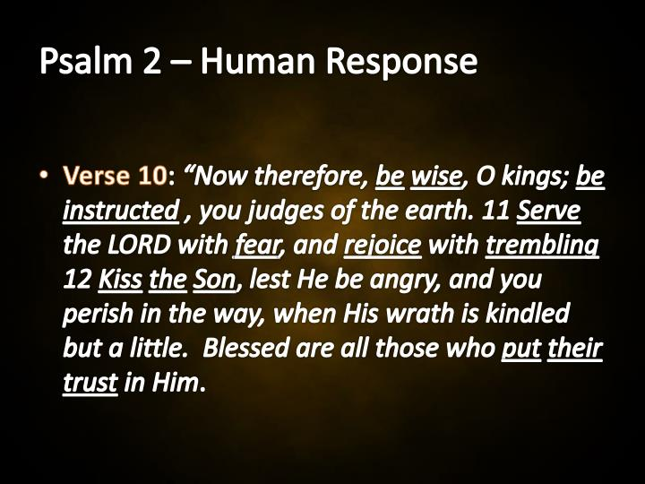 Image result for PSALM 2:10-12