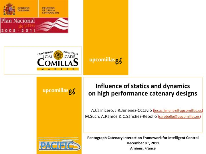 influence of statics and dynamics on high performance catenary designs n.