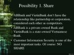 possibility 1 share
