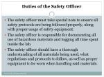 duties of the safety officer1