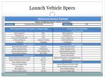 launch vehicle specs