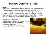 huygens descent to titan