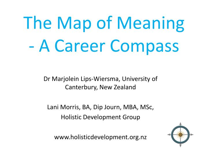 the map of meaning a career compass n.