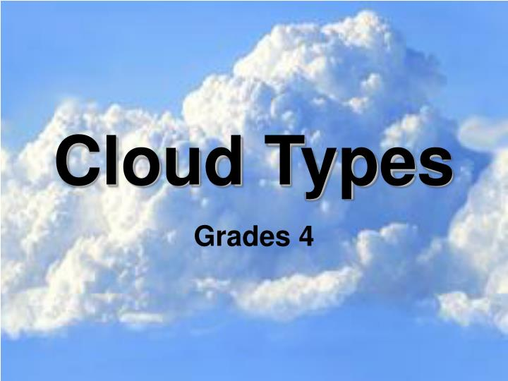 cloud types n.