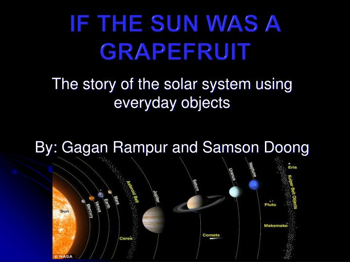 if the sun was a grapefruit n.