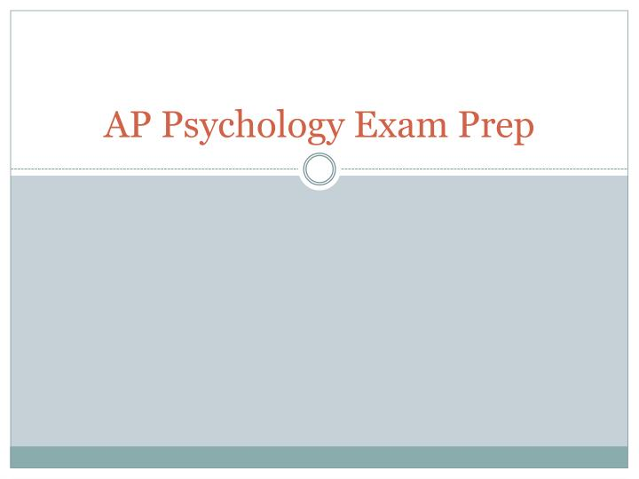 ap psychology exam prep n.