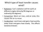 which type of heat transfer causes wind