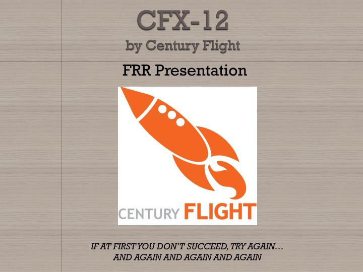 cfx 12 by century flight n.