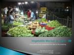 vegetable market at night