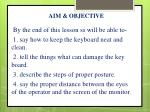 aim objective