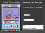 cook timer after choosing the recipe