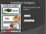 cookbook category
