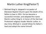martin luther king pastor