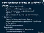 fonctionnalit s de base de windows azure