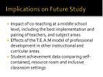 implications on future study