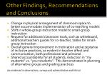 other findings recommendations and conclusions