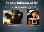 people influenced by hank williams cont