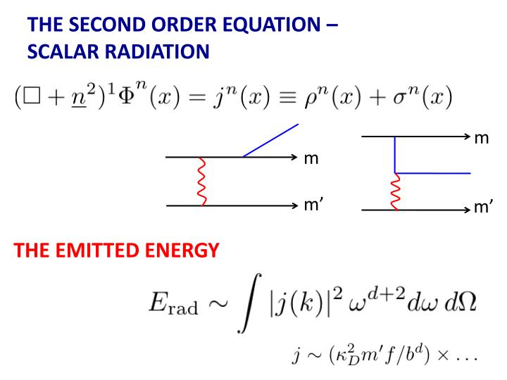 THE SECOND ORDER EQUATION –